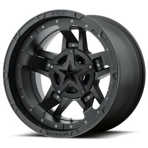 20 Inch Black Wheels Rims Ford F 250 350 8x6 5 Lug Xd Series Rockstar 3 Xd827