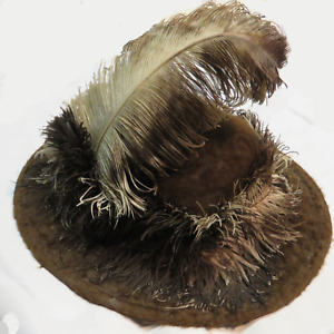 Extraordinary Victorian Ladies Fur And Feather Hat Rare Scarce Museum Quality