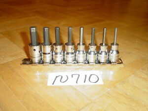 Snap on Tools 8 Piece 3 8 Drive Sae Standard Hex Socket Driver Set 1 8 3 8