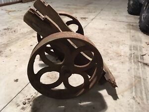 Industrial Iron Cart Wheels Antique