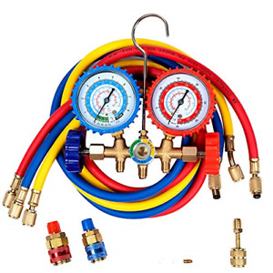 Detool 5ft Ac Diagnostic Manifold Gauge Set Freon With R134a R12 R22 R502 Acme