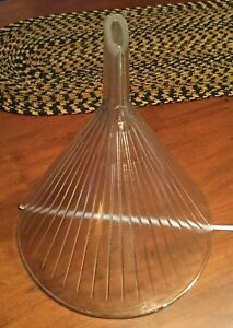 Vintage Glass Lab Funnel 1 Gal Ribbed Great Condition W t co 11 x12