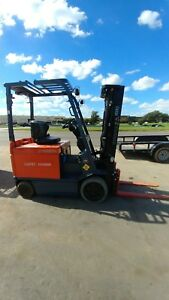2004 Toyota Electric Forklift 30 7fbchu25 5000 Lb 3 stage Mast With Side Shift