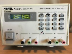 Amrel american Reiance Dual Channel Programmable Dc Power Supply Pps 35 2d
