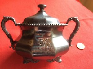 Vintage Reed Barton Silver Plated Sugar Bowl With Lid 50
