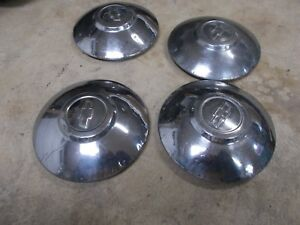 1949 1950 Chevrolet Dog Dish Hubcaps 49 50 Chevy Hub Caps Set Of Four Used