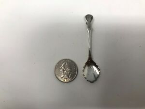 Vintage Sterling Silver Salt Spoon 2 3 4 4 45g Pin