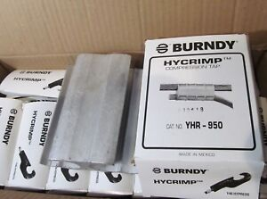 10 pack Burndy Yhr 950 Hycrimp Compression H Taps Use With Y46 Hypress
