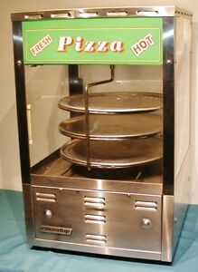 Roundup Pizza Oven Warmer Rotating 3 Pan Food Display Cabinet Very Clean