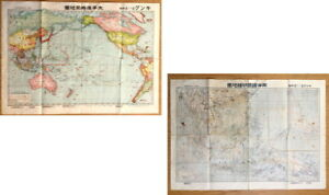Wwii Japan War Situation Map East Asia South Pacific Map Singapore Malay