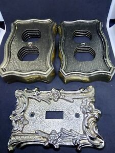 Amertac 9 Brass Metal Outlet Covers N70d 1 Light Switch Cover 60t