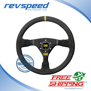 Omp Racing Wrc Black Suede 350mm Steering Wheel Genuine Od 1979 n