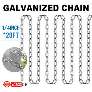 Grade 30 Chain Zinc Plated 1 4 20 Anti corrosion Logging Proof Coil Chain