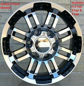 4 New 18 Wheels Rims For Avalanche Express Van 1500 Astro Van Colorado 603