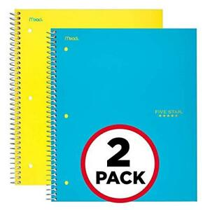 Five Star Spiral Notebooks 5 Subject College Ruled Paper 200 Sheets 11 X 8