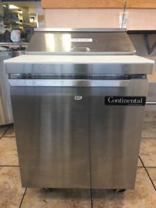 Continental Sw27 8 Commercial Stainless Steel Sandwich Salad Prep Refrigerator