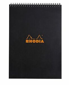 Rhodia Wirebound Notebook 8 1 4 X 11 3 4 Lined Black