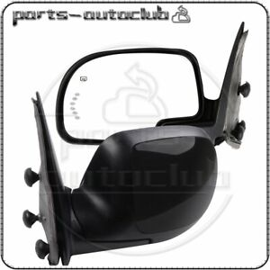 Left right Side View Mirrors Power Heated Turn Signal Lamp For 2003 07 Chevy Gmc