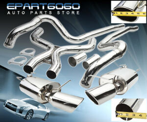 For 11 14 Mustang Gt 5 0 Coyote Boss 302 Catback Exhaust System 4 5 Dual Tip