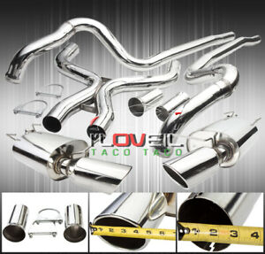 11 14 Mustang Gt Touring 302 Full Dual Straight Air Flow Catback Exhaust System