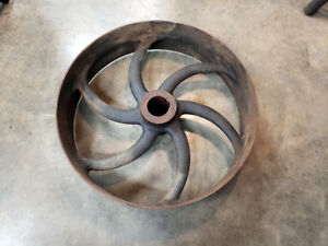 Large English Curved Spoke Pulley Cast Iron Antique Hit Miss Steam Engine