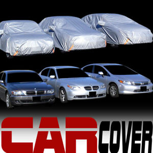 4 Layer Universal Water dust Proof 4700mm Car Cover Life Warranty Fits Pontiac