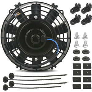 8 Inch Engine Trans mission Oil Cooler Electric Air Pusher Cooling Fan 12 Volt