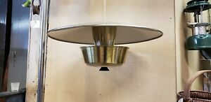 Vintage Mid Century Modern Brass Pull Down Hanging Light Pendant