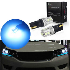 2pcs Ice Blue Led Lights Fit For 2013 2015 Honda Accord Headlight Strip Bulbs