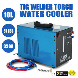 Vevor 110v Tig Welder Torch Water Cooling Cooler Flow Alarm 10l Capacity
