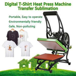 Heat Press T shirt Digital Transfer Sublimation Machine Diy Printer Us Shipping