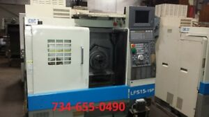 1997 Okuma Cnc Lathe With Osp 700l Control Video Under Power Cheap