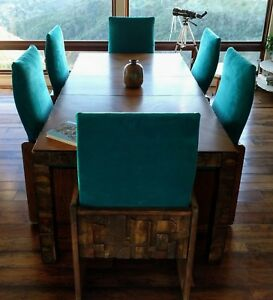 Mid Century Modern Vintage Original Lane Brutalist Style Dining Table And Chairs