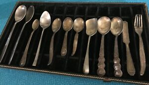 Vintage Lot Flatware Spoons International Silver Co Gerber Benares Cambrige Etc