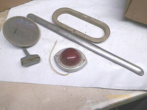 Old Tail Light Mirror And Body Trim From Box 1948 Studebaker Truck Parts