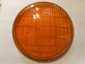 Vintage Ls 384 Amber Fog Kd Lamp Light Glass Lens Car Auto Truck Accessory Old