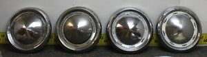 Oem Gm Set Of 4 10 5 8 Dog Dish Hub Caps 1955 56 Chevrolet Bel Air Svm27a