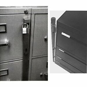 Abus 07040 Lock Bars For 4 Drawer File Cabinet 2 pack