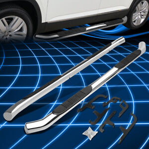 For 18 20 Vw Atlas 3 Round Tubring Step Bar Running Boards Replacement Chrome