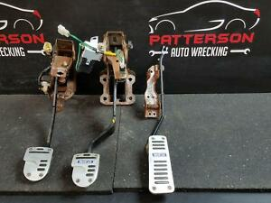 2003 Mazda Protege Sparco Clutch Gas Brake Pedal Assembly Rust