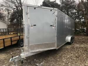 2019 Aluminum 7 X 29 5 Place Enclosed Snowmobile Trailer 7ft Interior