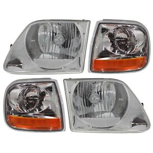 Headlights Corner Parking Lights Kit Set For F150 Expedition Lightning Style