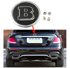Gloss Black Mercedes Benz Brabus B Rear Door Trunk Lid Badge Emblem With Screws