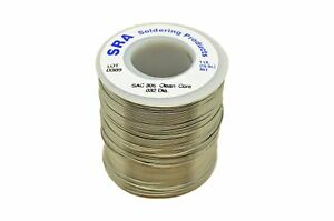 Sra Soldering Products Wbncsac32 Lead Free No clean Flux Core Silver Solder