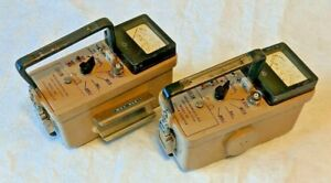 lot Of 2 Ludlum Model 14c Radiation Survey Meter Geiger Counter