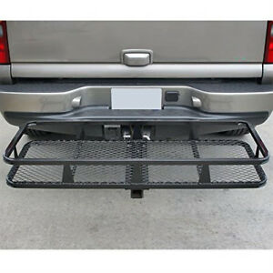 1x Cargo Carrier Luggage Basket Rack Foldable 2 Receiver Hitch Mount Steel Mesh