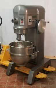 Hobart H600 60 Qt Mixer 3 Phase 200v 1 5 Hp Stainless Bowl New Hook