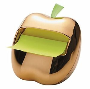 Rare Gold Toned Apple Pop Up Post It Note Dispenser nib