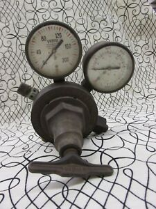 Victor Gas Regulator Model Sr 43 Oxygen Gauge Set