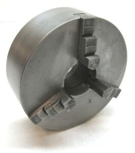 Atlas 5 Three jaw Lathe Chuck W 1 1 2 8 Threaded Mount